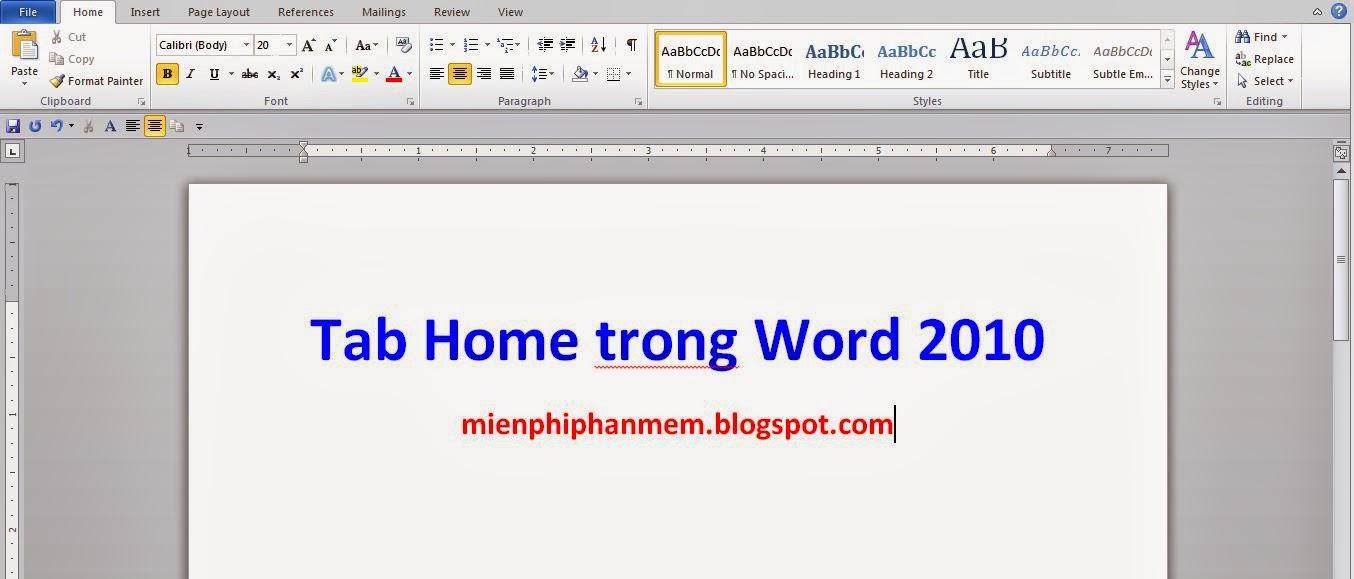Tìm hiểu ý nghĩa trên Tab Home trên word 2010