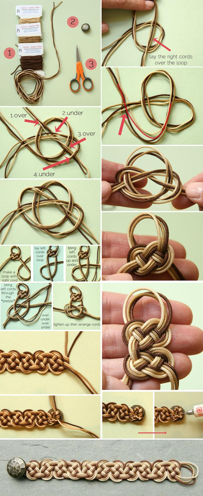 Lovely ombre celtic knot bracelet tutorial