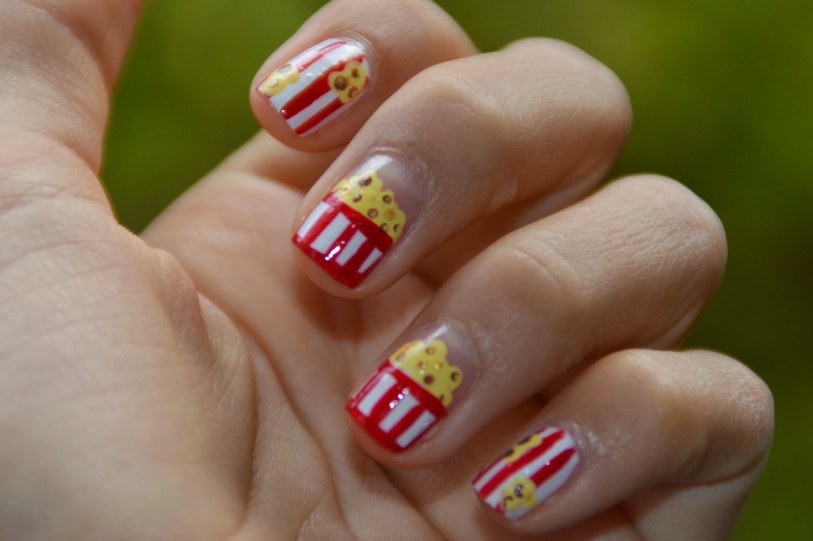 Nail Art Popcorn Pliese