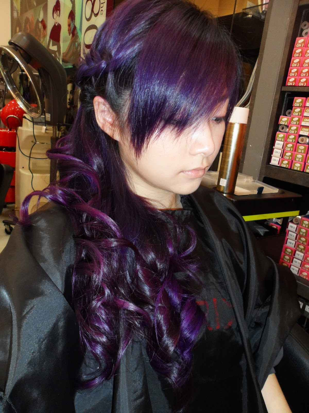 Red Purple Ombre Hair Dye my whole head purple!