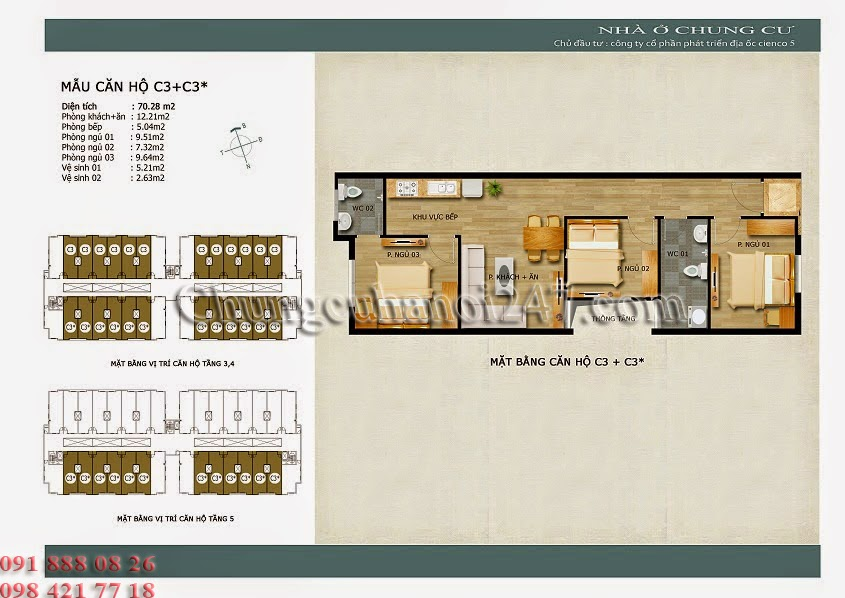 mặt bằng căn hộ c3+c3* chung cư thanh hà cienco 5 hà đông