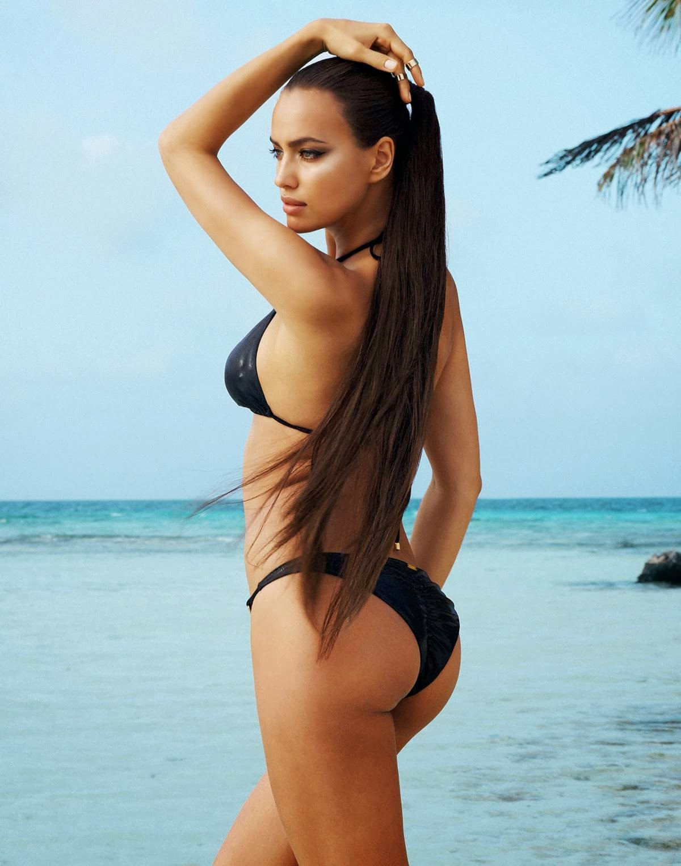 Irina Shayk Sexy Round Ass Beach Bunny Bikini Photoshoot