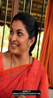 Ramya Krishnan in red saree