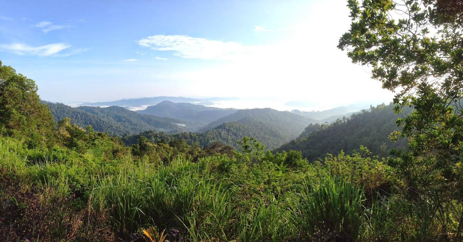 Scenic view along Baling- Gerik