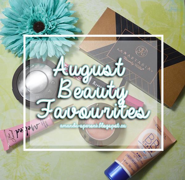 August Beauty Favourites amanda speroni blogspot