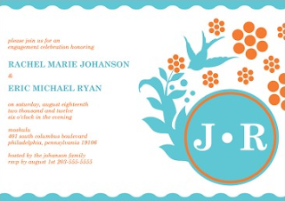 http://www.prettypaperinvitations.com/blue-orange-engagement-party-invitation-vanessa-ocean.html