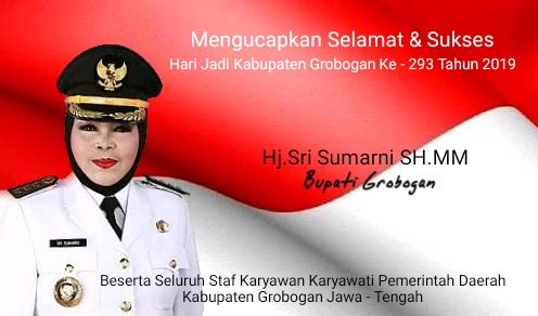 Selamat & Sukses Hari Jadi Kabupaten Grobogan Ke-293