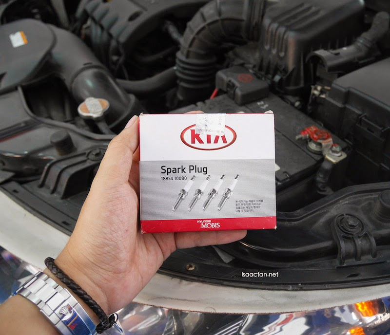 Original Kia Spark Plugs were given when changing the plugs on my Kia Forte