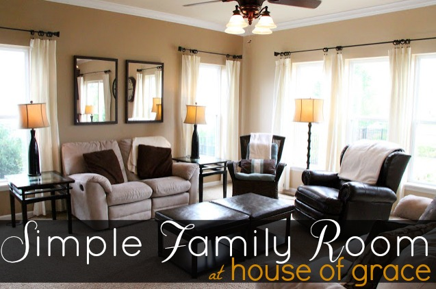 Simple Family Room Bonnie Donahue