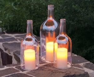 Kerajinan Tangan Dari Botol Bekas - Lilin Hias, Crafts from Used Bottle, Decorative Candles from Used Bottle