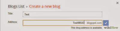 Masukan Title dan alamat Blog
