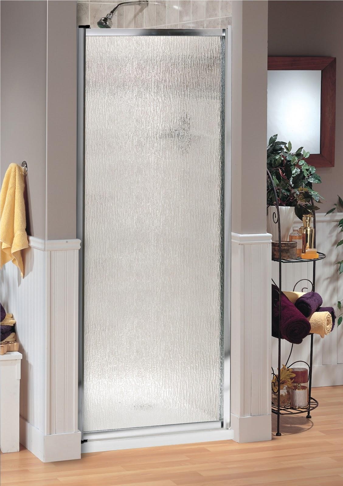 Rain Drops Frosted Pivot Door Giovani Shower Doors