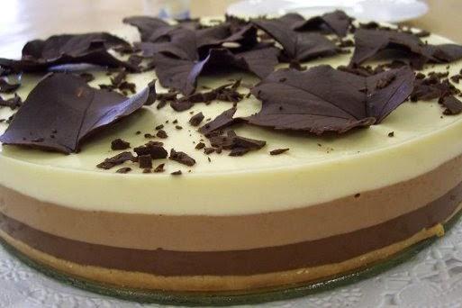 Tarta A Los Tres Chocolates