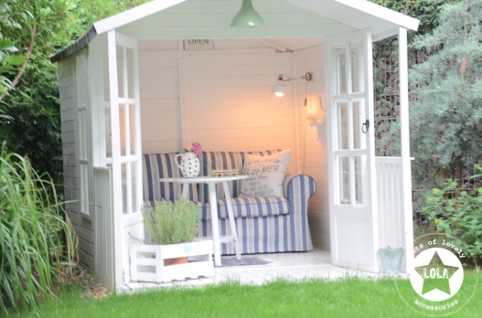 L o l a lots of lovely accessories gartenhaus und ein - Gartenhaus shabby chic ...