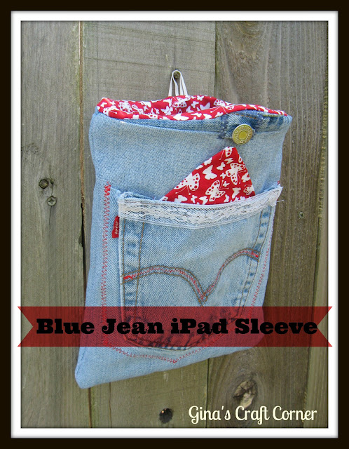 Blue Jean iPad Sleeve