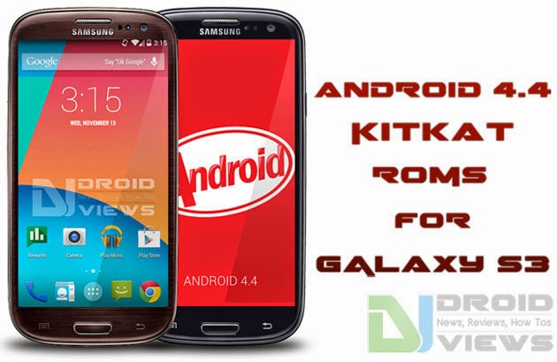 galaxy s3 android 4.4 kitkat