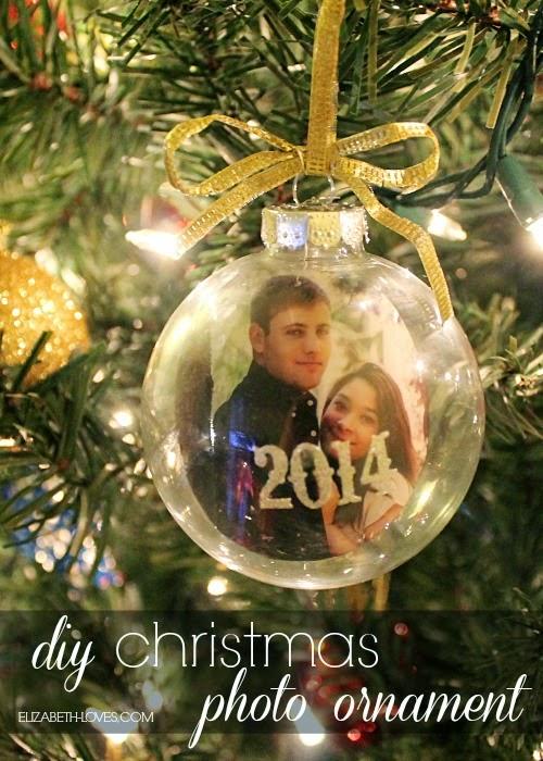 diy Christmas photo ornament