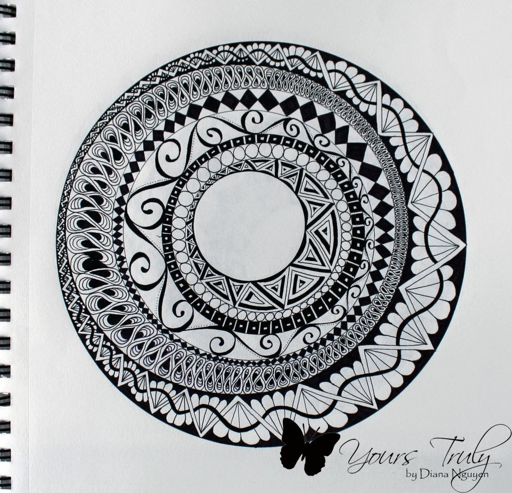 Diana Nguyen, zentangle, pigma micron