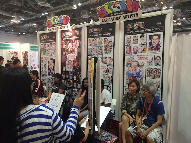 Singapore Toy, Game & Comic Convention STGCC 2015 artist alley caricatures