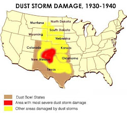 Dust Bowl info-graphic