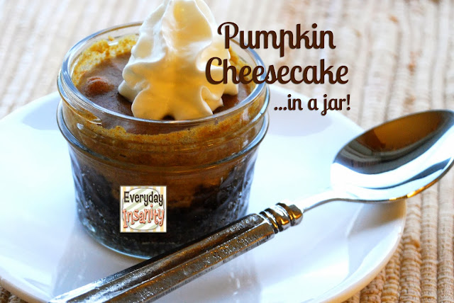 Pumpkin Cheesecake in a Jar from Everyday Insanity