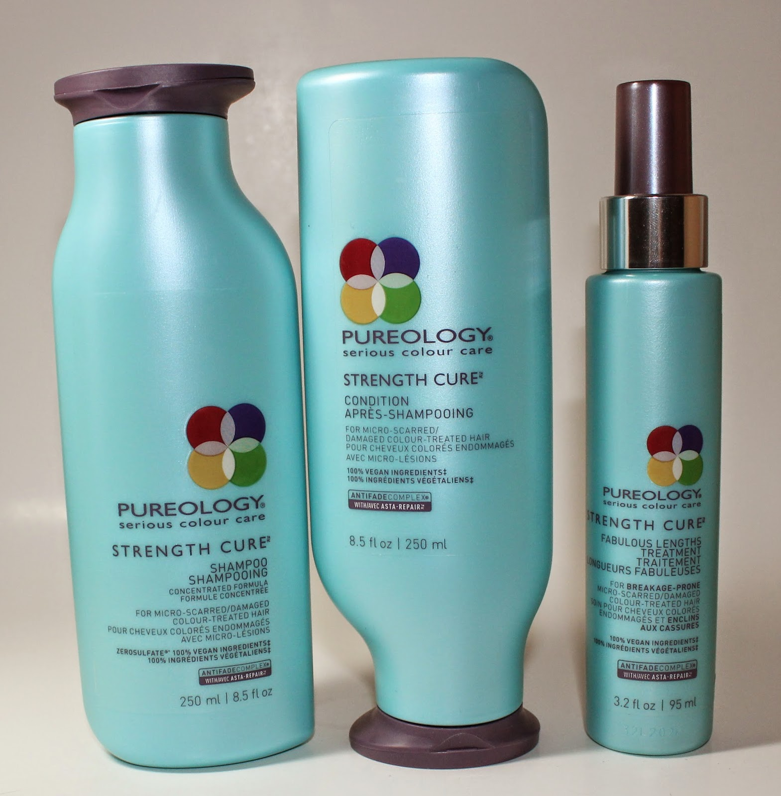 Pureology Strength Cure Shampoo, Condition & Fabulous Lengths Treatment