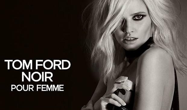 Lara Stone w kampanii Tom Ford Noir Pour Femme