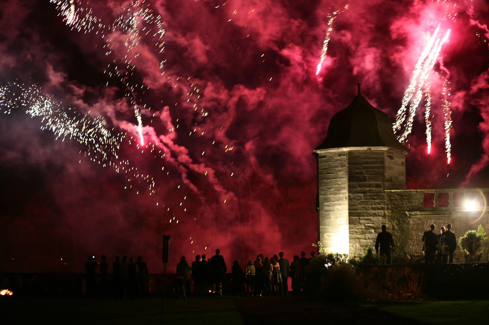 Fireworks at a castle in East Lothian, Scotland in 2007