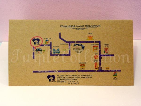 Air Mail Envelope Wedding Invitation Card, wedding invitation cards, malay wedding cards, air mail envelope cards, wedding