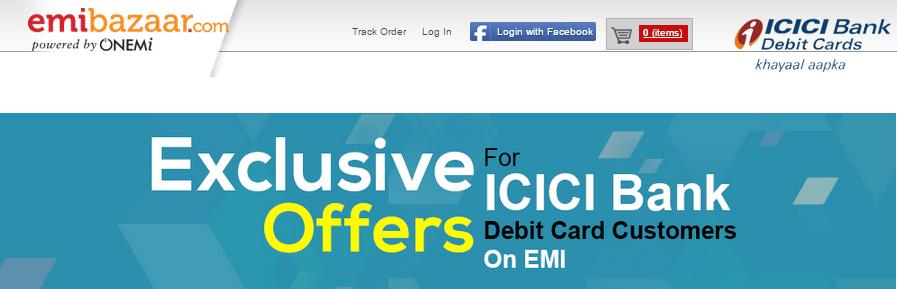 Online mobile shopping emi on debit card