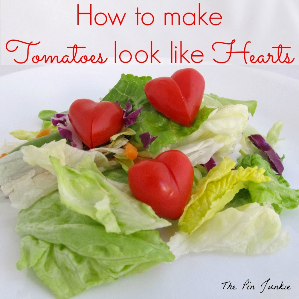 How to make tomatoes look like hearts