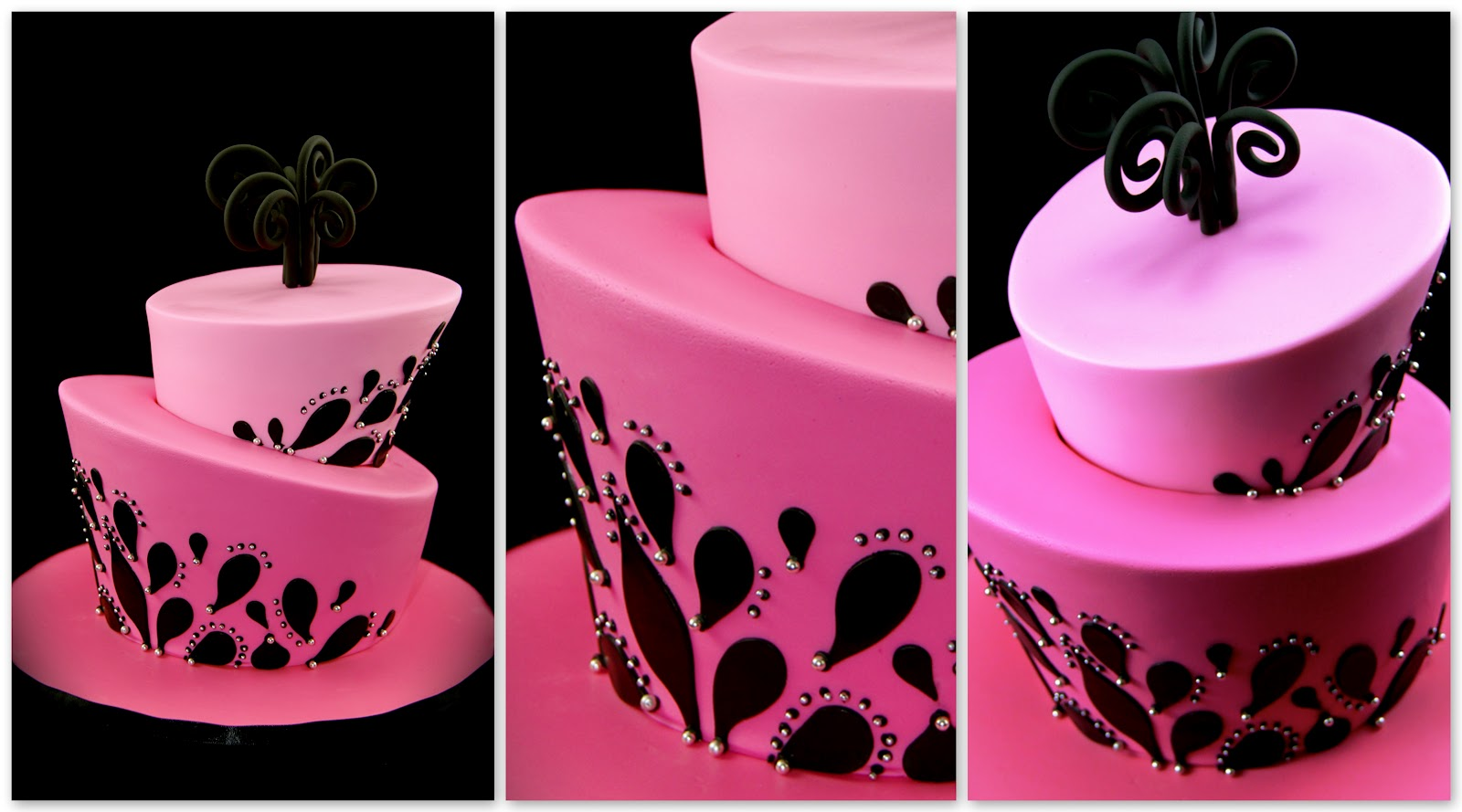 Coco Jo Cake Design Hot pink and Black