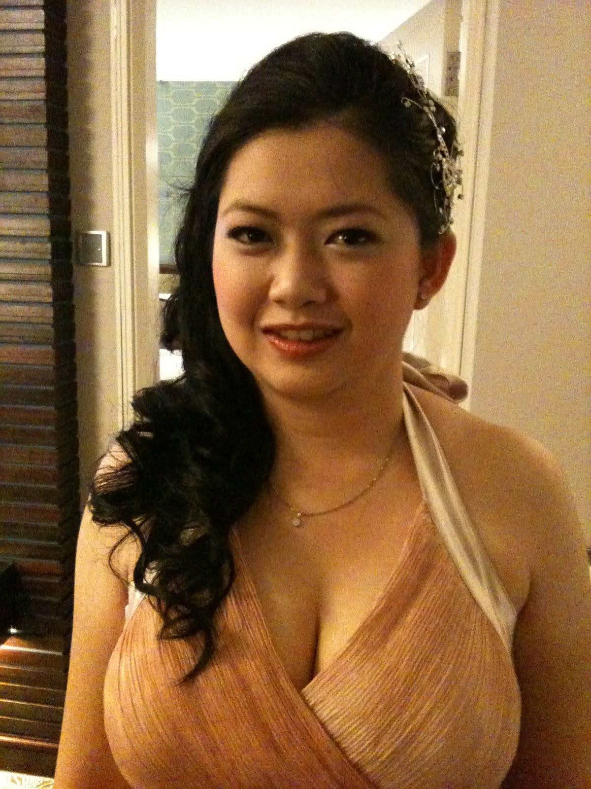 Bridal Make Up Artist Singapore: Wedding Dinner Long Hair Styles