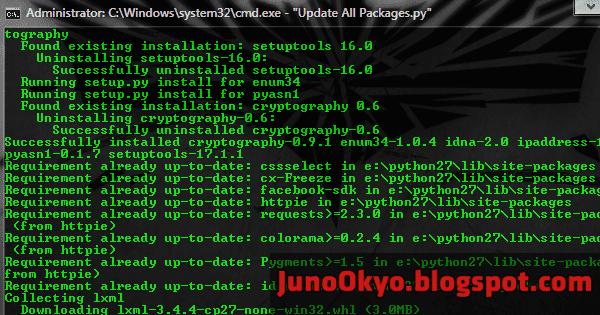 Cách cập nhật tất cả Python Package với Pip