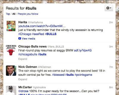 Twitter hashtag example: #Bulls