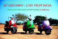 1st GIVEAWAY:Love From INDIA