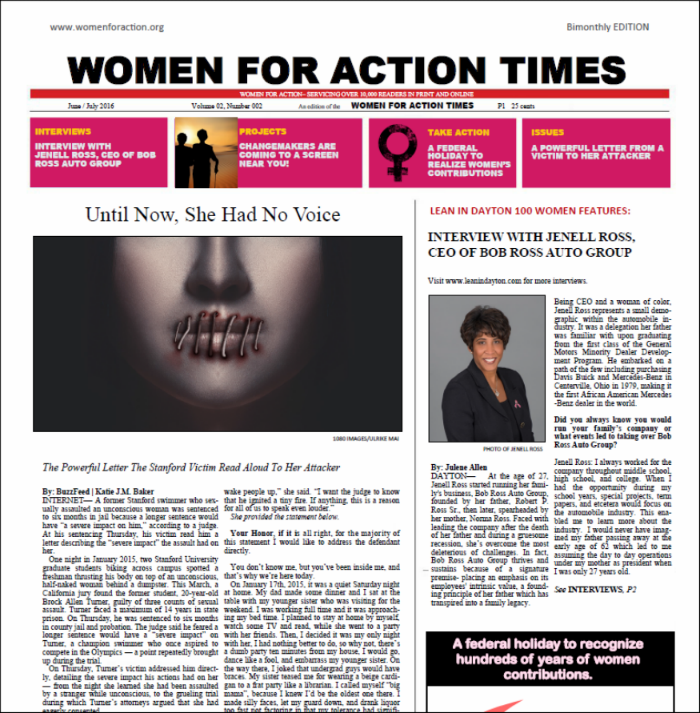 In Our Aug/Sept Issue of WFA Times, We explore why a federal holiday for women is needed