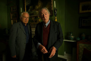 Lucan, ITV: MICHAEL GAMBON as Older Burke and PAUL FREEMAN as John Pearson.