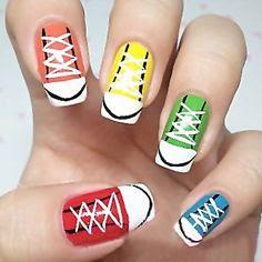 Sporty Look Nail Art Designs