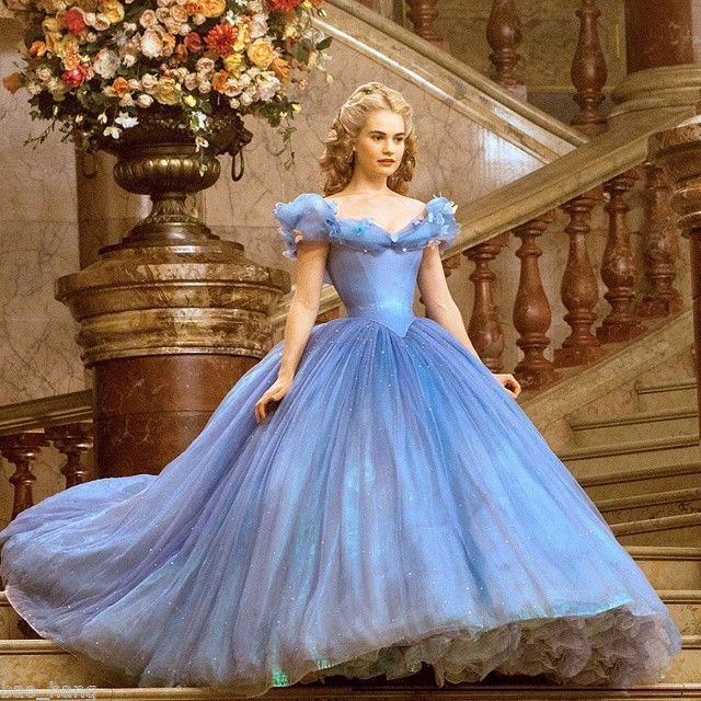 Blue Cinderella Wedding Ball Gown On Sale | Prom gowns and wedding ...