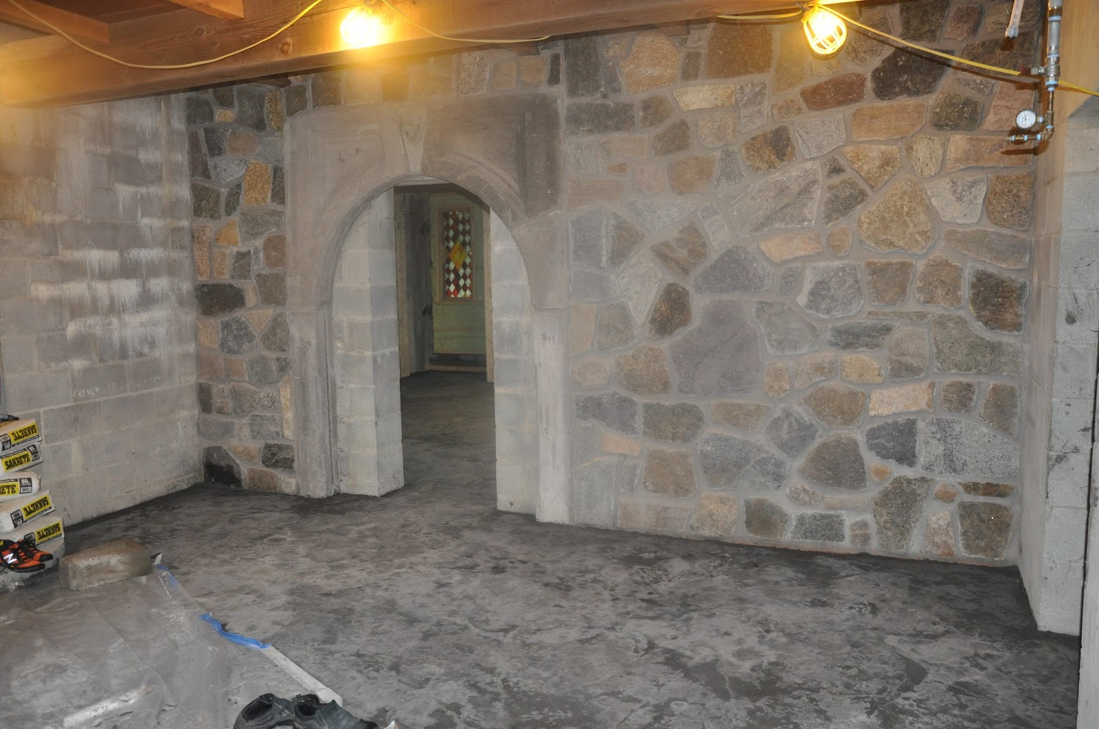 Castle Stone Floor : Building an adirondack castle cleaning up and moving