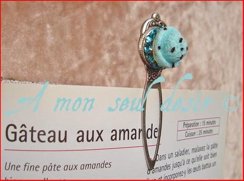 Marque Page Crème Glacée Glace Gourmand Gourmandise Kawaii Yummy Blue Ice Cream Jewelry BookMark Curaçao Givré