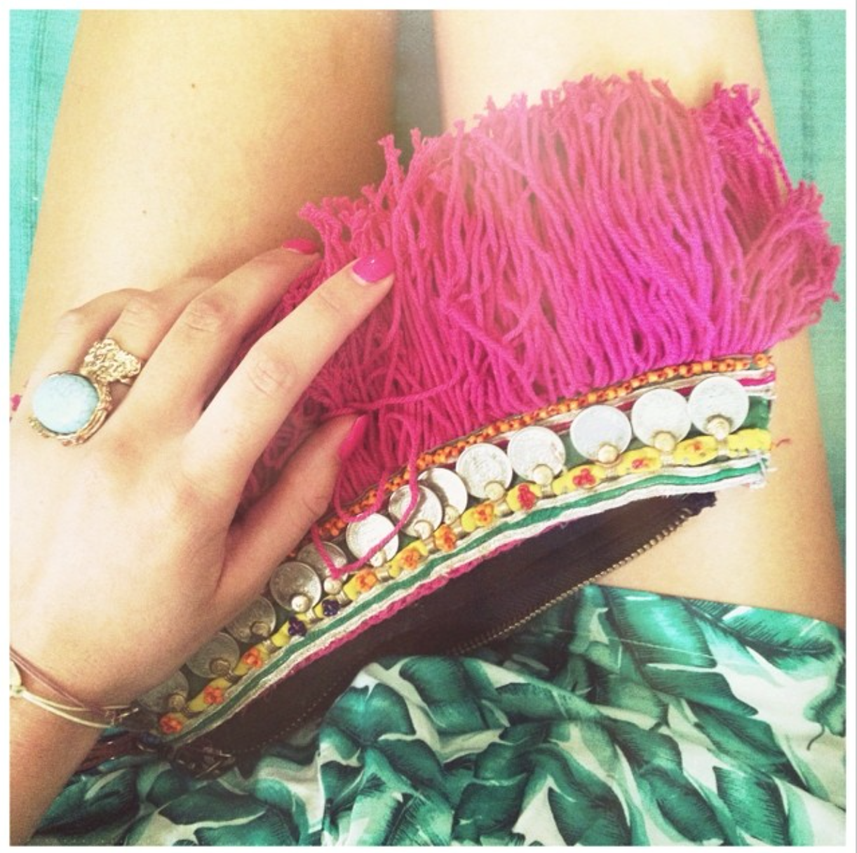 Shorts,Palm Print, Details, Jewelry, Eliott Man, Clutch