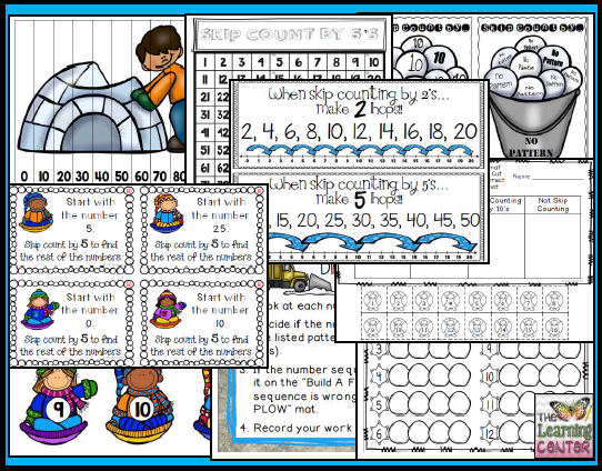 https://www.teacherspayteachers.com/Product/Snow-Day-Skip-Counting-1667874