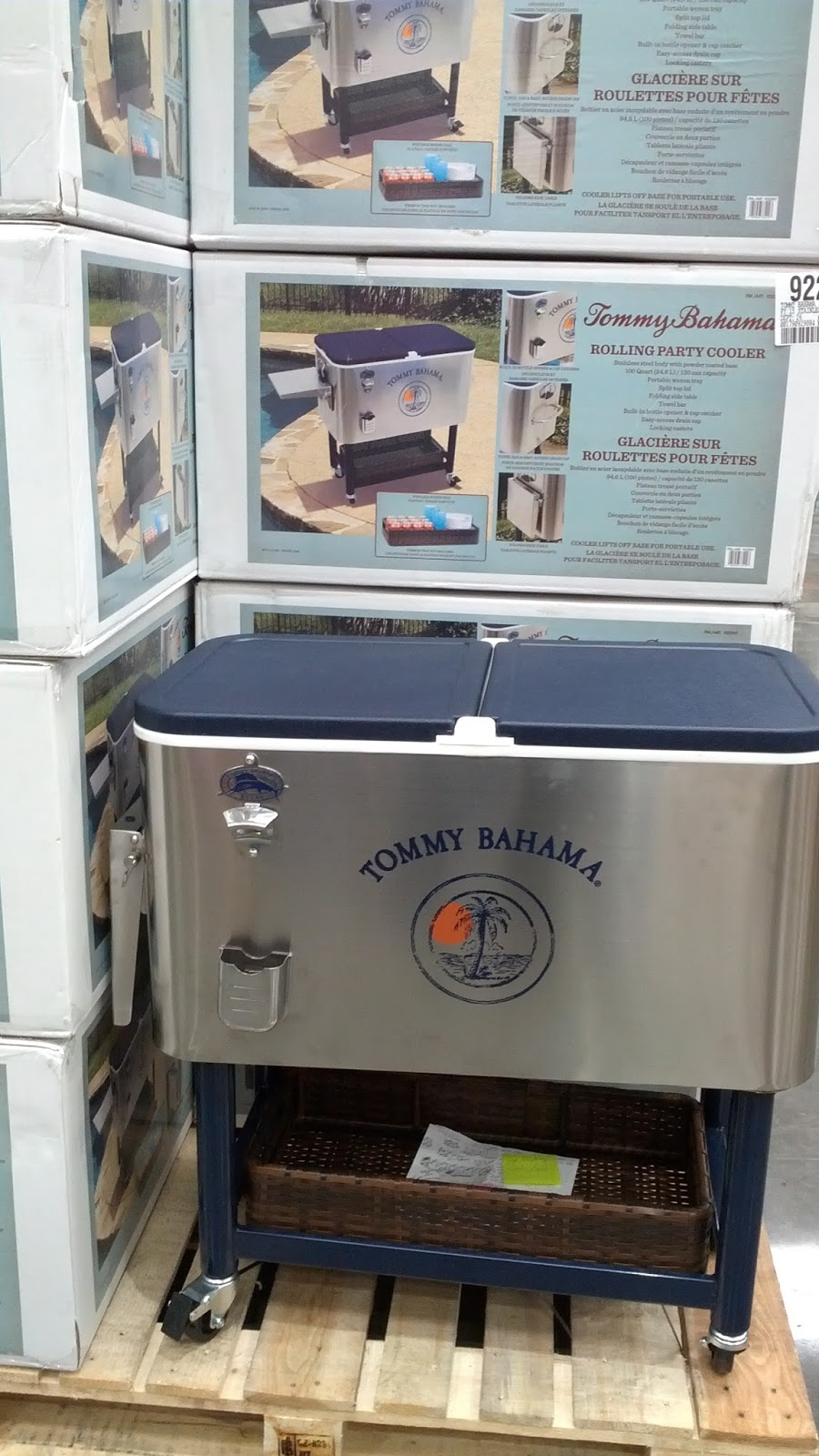 Tommy Bahama Roller Cooler For Cold Beer And Sodas