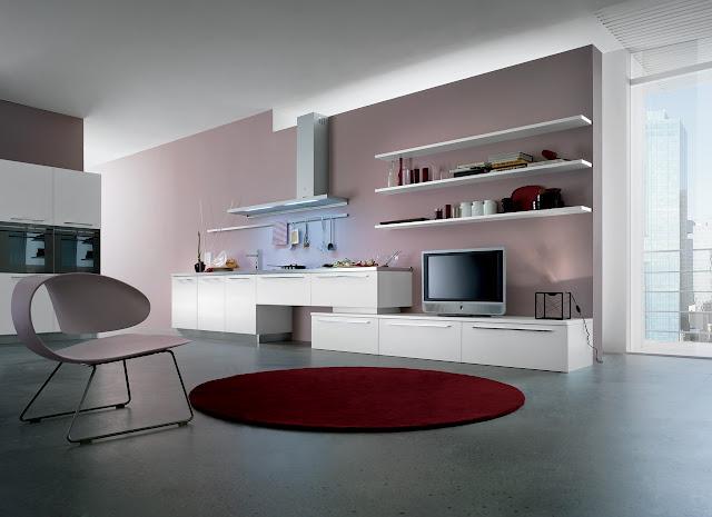 Cuisine design liée au salon, pour espace design oui petit appartement par un cuisiniste de Montpellier