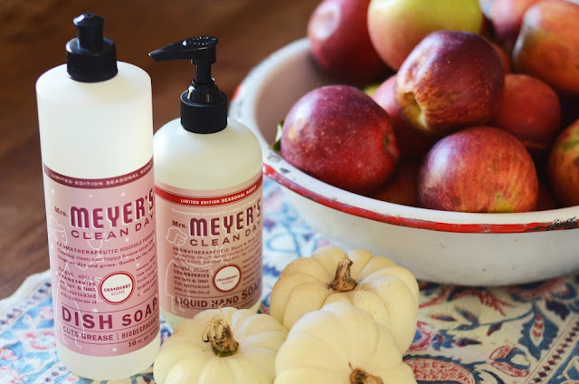 Mrs. Meyer's seasonal scents soaps help me clean MWP