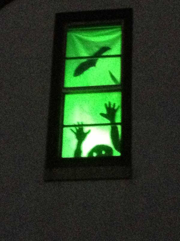 creepy halloween window silhouettes