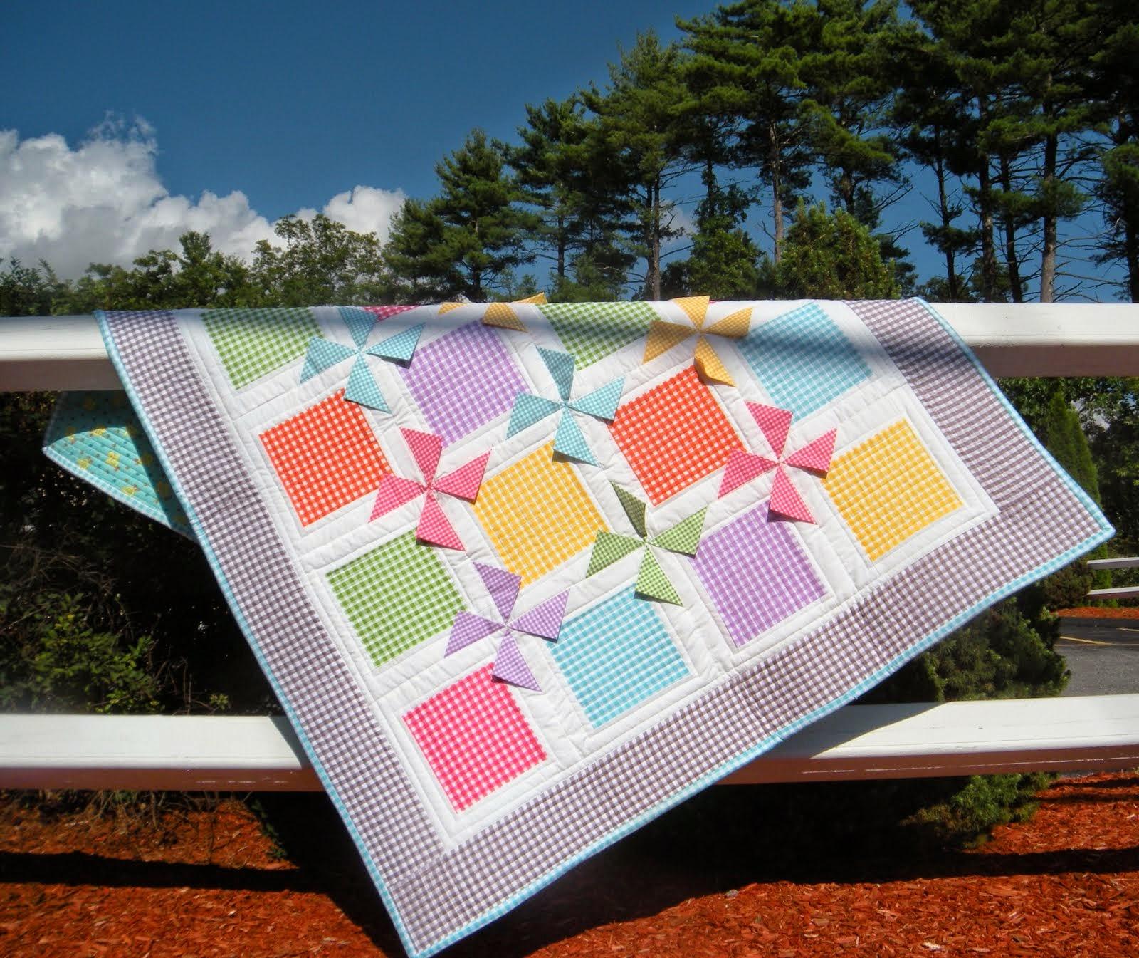 Gingham Prairie Pinwheels Quilt