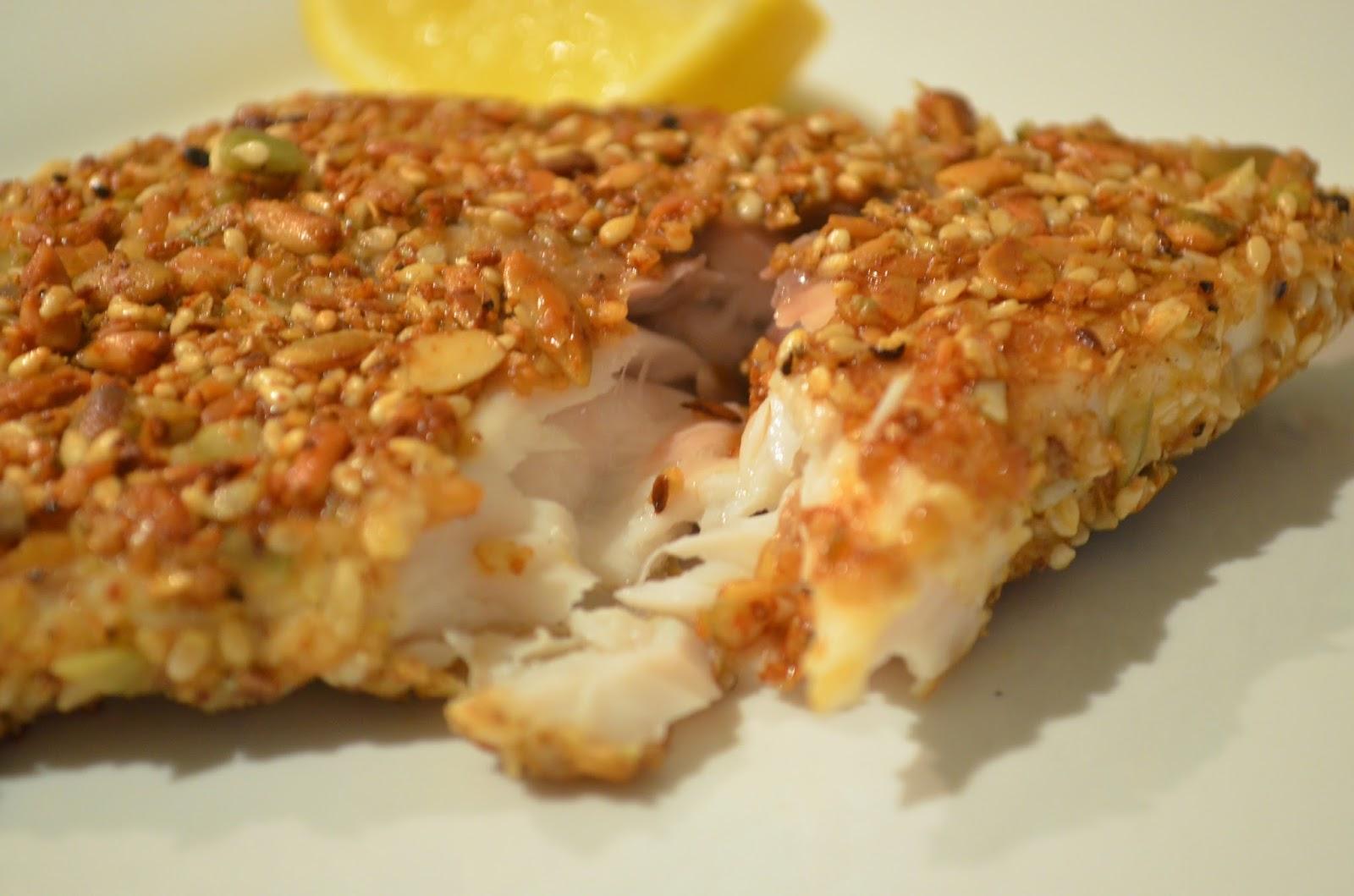 Forever nutrition dukkah crusted barramundi for Barramundi fish taste